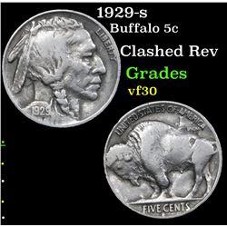 1929-s Buffalo Nickel 5c Grades vf++