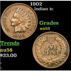 1902 Indian Cent 1c Grades Select AU