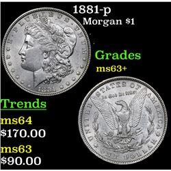 1881-p Morgan Dollar $1 Grades Select+ Unc
