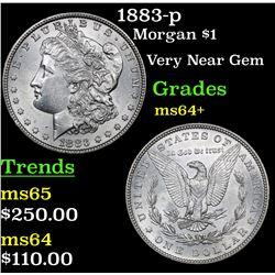 1883-p Morgan Dollar $1 Grades Choice+ Unc