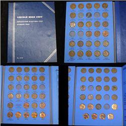 Partial Lincoln cent book 1941-1962 80 coins . . Grades