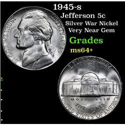 1945-s Jefferson Nickel 5c Grades Choice+ Unc