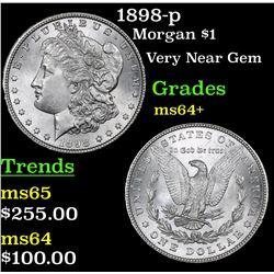 1898-p Morgan Dollar $1 Grades Choice+ Unc