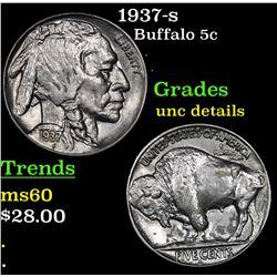 1937-s Buffalo Nickel 5c Grades Unc Details