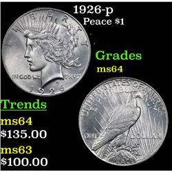 1926-p Peace Dollar $1 Grades Choice Unc