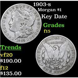 1903-s Morgan Dollar $1 Grades f+