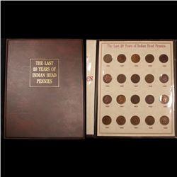Indian cent book 1890-1909 20 coins . . Grades