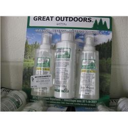 GREAT OUTDOORS INSECT REPELLENT 3 PACK