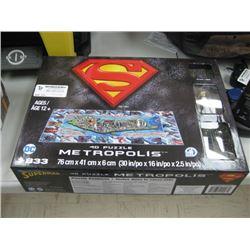SUPER MAN METROPOLIS 4 D PUZZLE