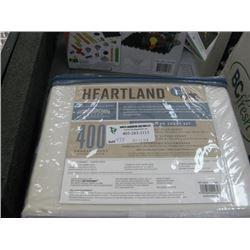 HEARTLAND 400 THREAD COUNT QUEEN SIZE SHEET SET