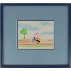 Charlie Brown production cel from Peanuts