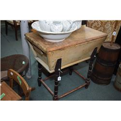 Antique primitive dry sink with lid