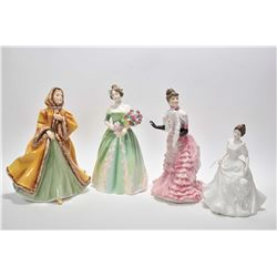 "Four Royal Doulton figurines including ""Happy Birthday"" HN3660, ""Tissot"" HN3359, ""Rachel"" HN2919 and"