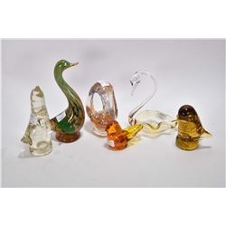Six pieces of art glass, all believed to be Alta glass, only four pieces marked