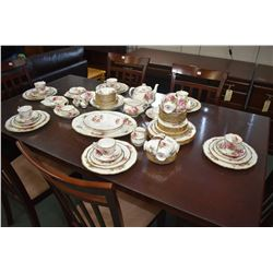 "Selection of Royal Albert ""American Beauty"" china dinnerware including ten dinner plates, thirteen s"