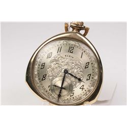 Elgin size 12, 7 jewel pocket watch, grade 303, model 3, serial # 27139356. Dates to 1925, 3/4 nicke