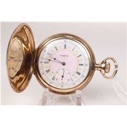 Elgin size 12, 7 jewel grade 232, model 2 pocket watch. Serial # 9603978, dates to 1903. #/4 nickel