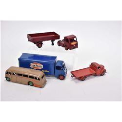 Four vintage Dinky Toys including Mindel Smart Helecs # 421, Gui Ever Ready batteries truck, Fordson