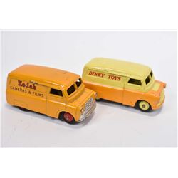 """Vintage Dinky Toys Bedord Kodak Cameras and Films #480 and a Bedford """"Dinky Toys"""" van"""