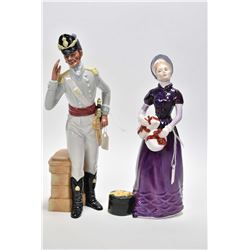 """Two Royal Doulton figurines including """"Morning Ma'am"""" HN2895 and """"Good Day Sir"""" HN2896"""