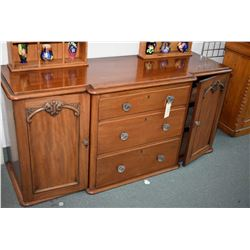 Antique mahogany sideboard base with four drawers and two drawers