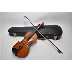 Vintage half size violin with bow in hard case
