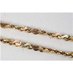 """10kt yellow gold twisted serpentine link 18"""" neck chain. Retail replacement value $ 650.00"""