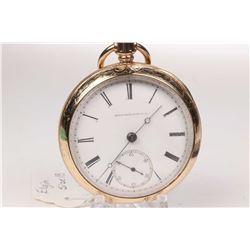 Elgin size 18, keywind 15 jewel pocket watch. Grade 79, model 1, serial # 381249 dates this watch to