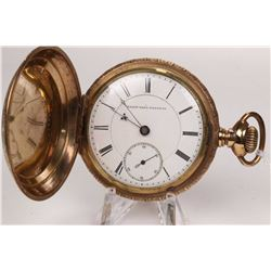 Elgin size 18, 15 jewel pocket watch, grade 70 model BW Raymond, serial # 1626871, dates to 1885. Fu