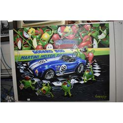 """Stretcher framed limited edition giclee """" We Olive A Shelby"""" by Michael Godard 244/995"""