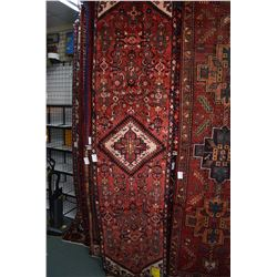 100% wool Iranian Hamedan runner/ area carpet with center medallion, overall stylized floral design