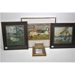 Four framed Group of Seven prints including three Tom Thomsons and an A.Y.Jackson