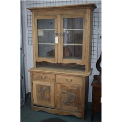 Antique Canadiana storage/display cabinet stripped and ready for final prep. and finish
