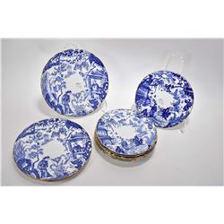 """Eleven Royal Crown Derby Mikado plates including three 7 1/4"""" and eight 7 1/4"""" plates"""