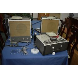 Vintage AMPEX Corp. reel to reel stereo system, model/serial No. 24128. Catalogue No. 960 and two mo