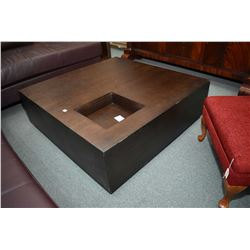 """Modern oak 40"""" square coffee table and side table"""