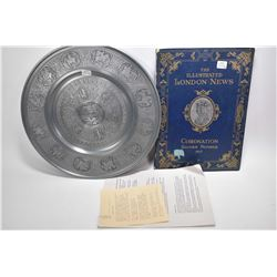 """Embossed pewter charger limited edition reissue of """"Louvre Plate"""" by artist Francois Briot 1550-1616"""