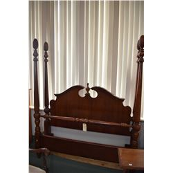 Antique style modern full size/ Queen sized four poster head board, foot board and rails