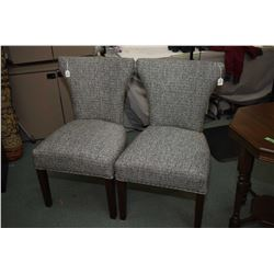 Two upholstered modern side chairs