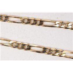 "Italian 9kt yellow gold 18"" figaro curb neck chain"