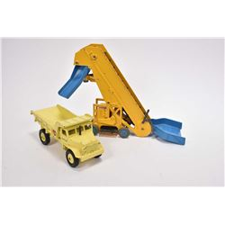 Vintage Dinky Supertoys Elevator loader # 964 and a Euclid Rear dumptruck #965