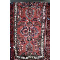 100% wool Iranian Mehravan area/ runner carpet with multiple medallions, overall floral design and t