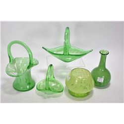 Five pieces of art glass, all believed to be Alta glass, non marked