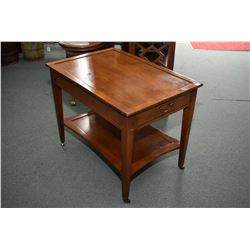 Mid 20th century magazine table and a 1970's single drawer side table