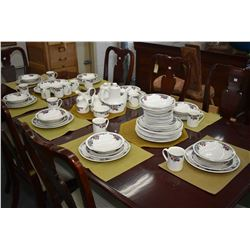 """Large selection of Royal Doulton """"Autum's Glory"""" dinnerware including seventeen dinner plates, twelv"""