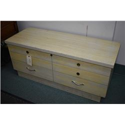 1950's era cedar lined blanket box with flip up tray made by Lane, includes original key and labels