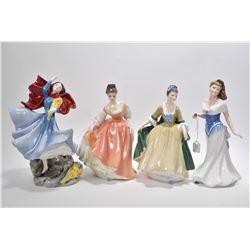 "Four Royal Doulton figurines including ""Elegance""HN2264. ""For You"" HN3754, ""Sophie"" HN3257 and ""Fair"