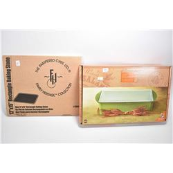 """Two new in box quality kitchen items including 12"""" X 15"""" rectangular baking stone from Pampered Chef"""