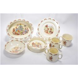 """Selection of Royal Doulton """"Bunnykins"""" including two handled cups, bowls etc."""