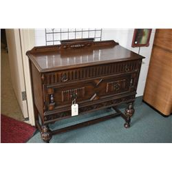 Antique oak two drawer refractory style server
